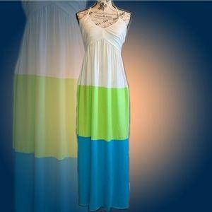 Trixxi Colorblock Halter Maxi Dress